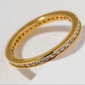 New Vanessa Mooney the comet ring crystal gold